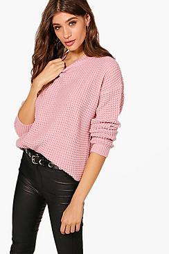 Pullover oversize in stile vintage