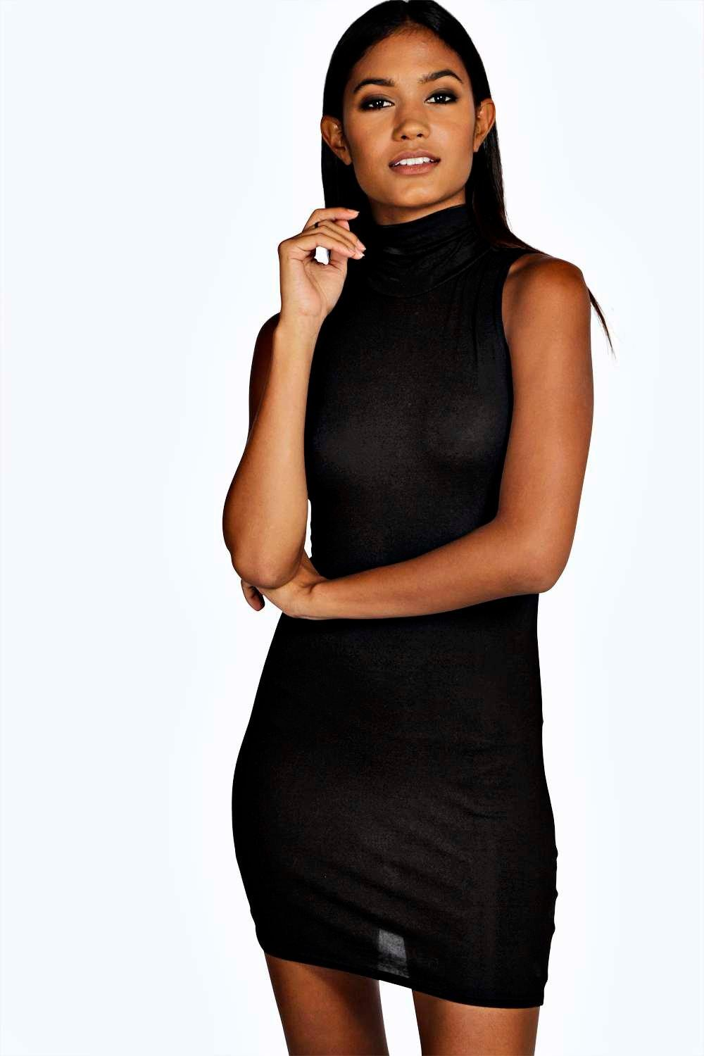 Lydia Turtle Neck Jersey Bodycon Dress