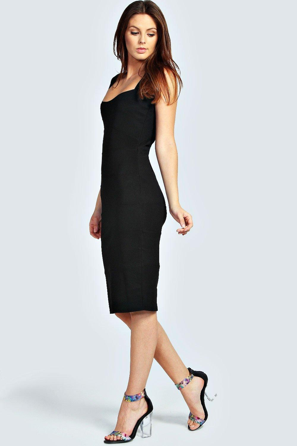 Rosie Panelled Bodycon Midi Dress