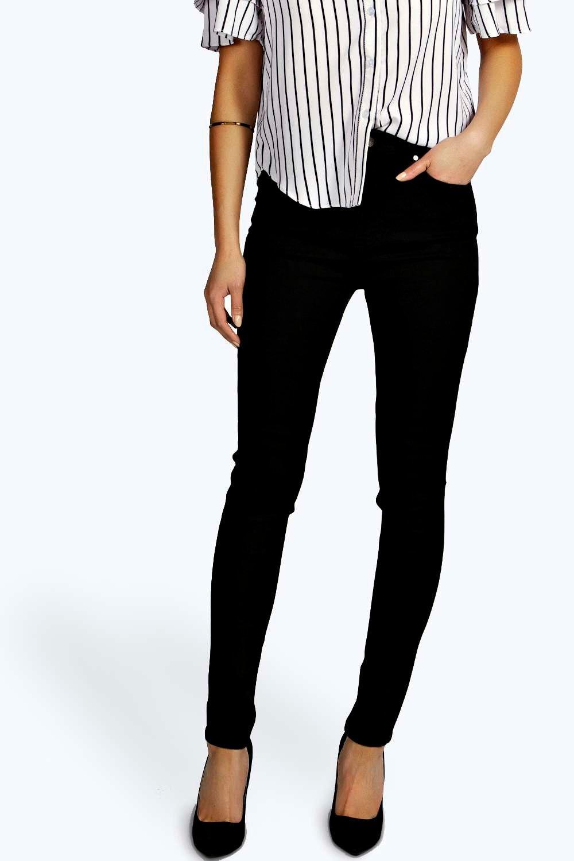 Super High Waisted Skinny Tube Jeans black