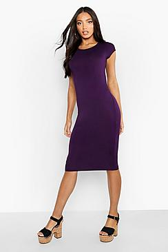 Cara Cap Sleeve Jersey Bodycon Midi Dress