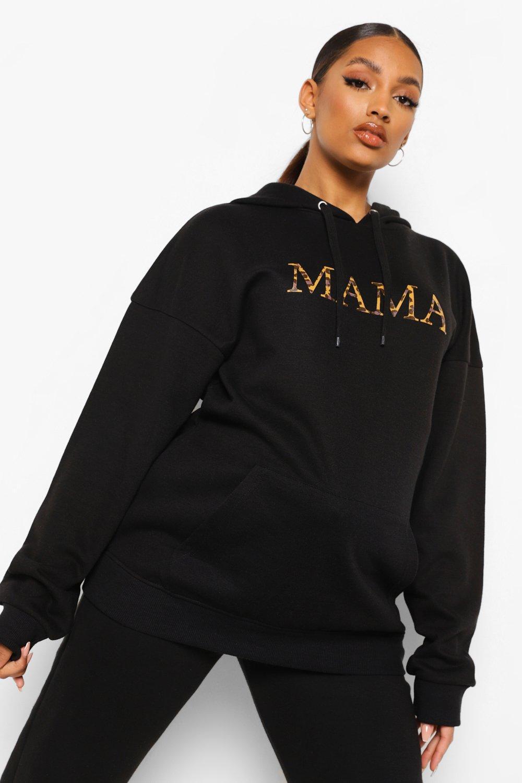 Boohoo Zwangerschaps Luipaardprint Mama Hoodie