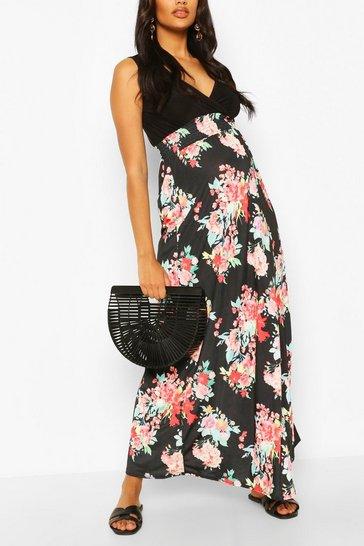Multi Maternity 2in1 Floral Print Maxi Dress