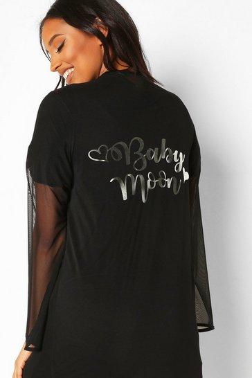 Black Maternity Babymoon Robe