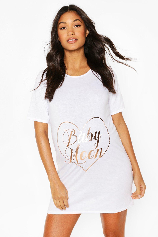boohoo Womens Maternity Babymoon Night Dress - White - 16, White