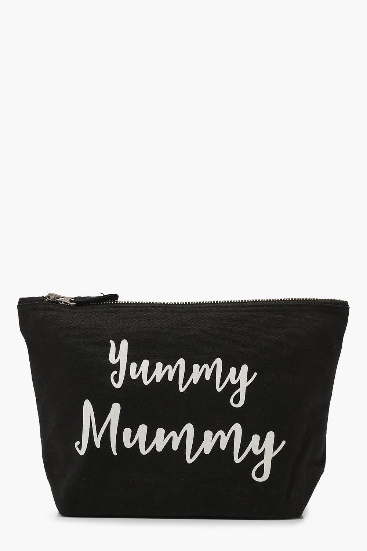 boohoo Womens Maternity Yummy Mummy Zip Pouch - Black - One Size, Black