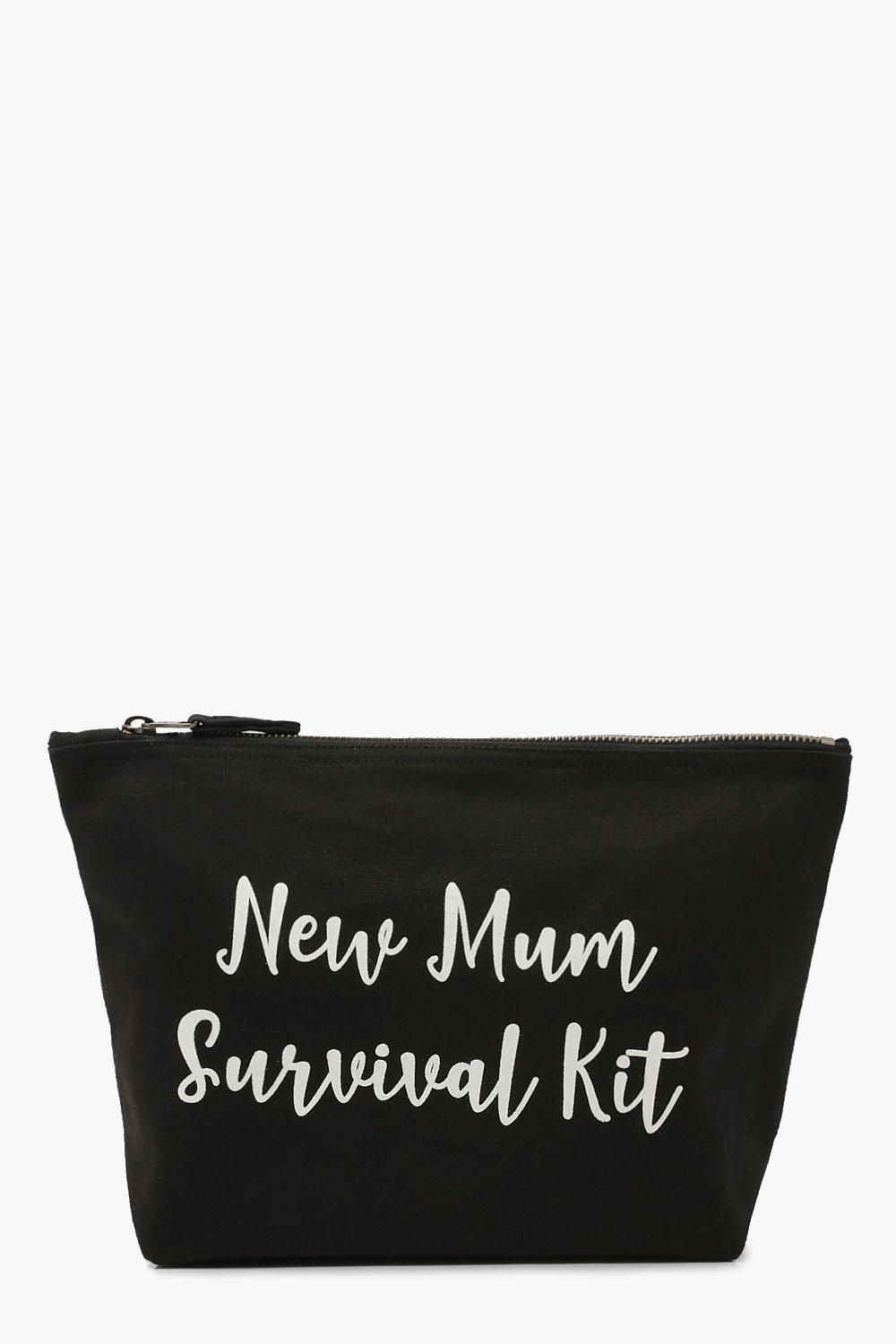 boohoo Womens Maternity New Mum Survival Kit Zip Pouch - Black - One Size, Black
