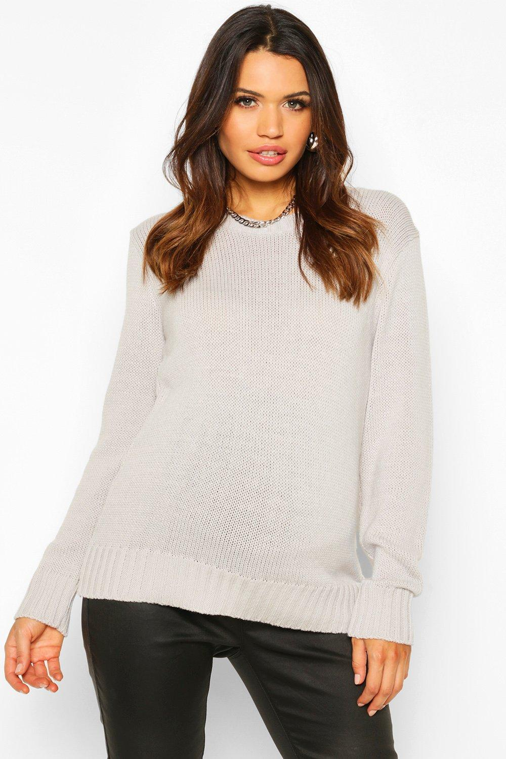 Womens Mama Rundhalspullover - silber - S, Silber - Boohoo.com
