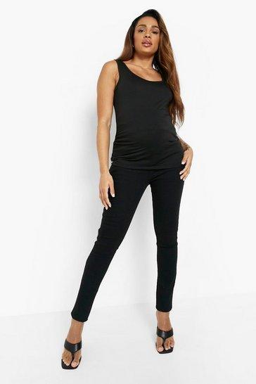 Black Maternity Skinny Jean