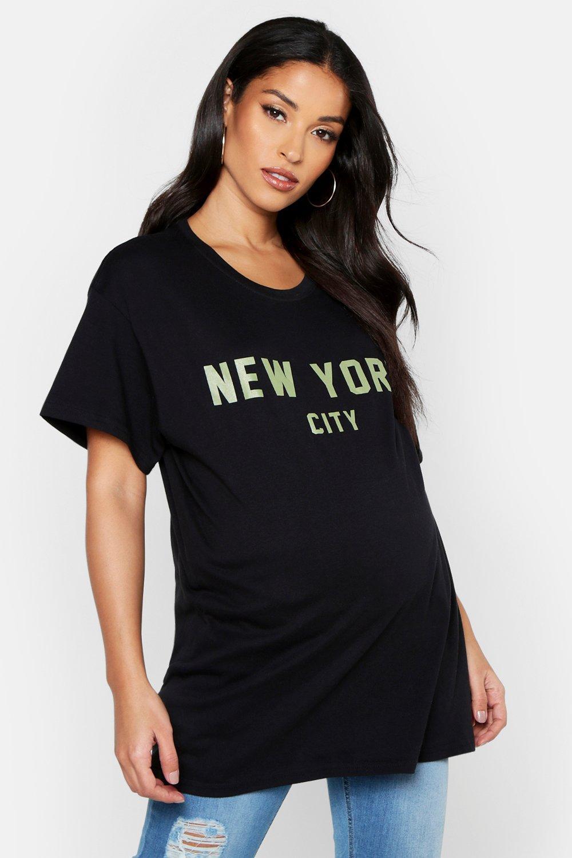 """Womens Umstandsmode T-Shirt mit Slogan """"New York City"""" - schwarz - S, Schwarz - Boohoo.com"""