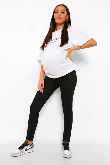 Black Maternity Basic Jegging