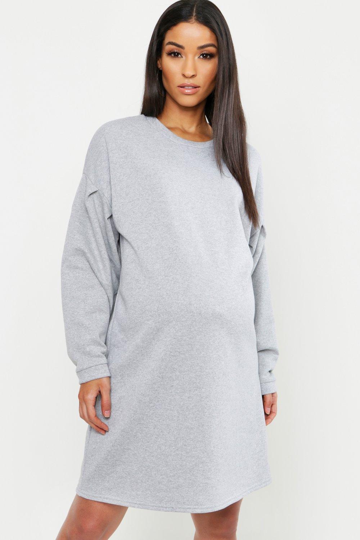 Купить К нам поступают платья, Из коллекции <Для беременных> Спортивное платье оверсайз с присборенными рукавами, boohoo