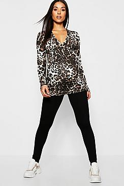 Maternity Leopard Lounge Set
