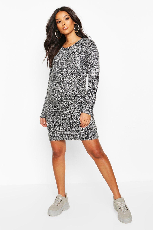 Купить Вязаные вещи, Мягкий фактурный для беременных Вязаное платье с перекрученной отделкой, boohoo