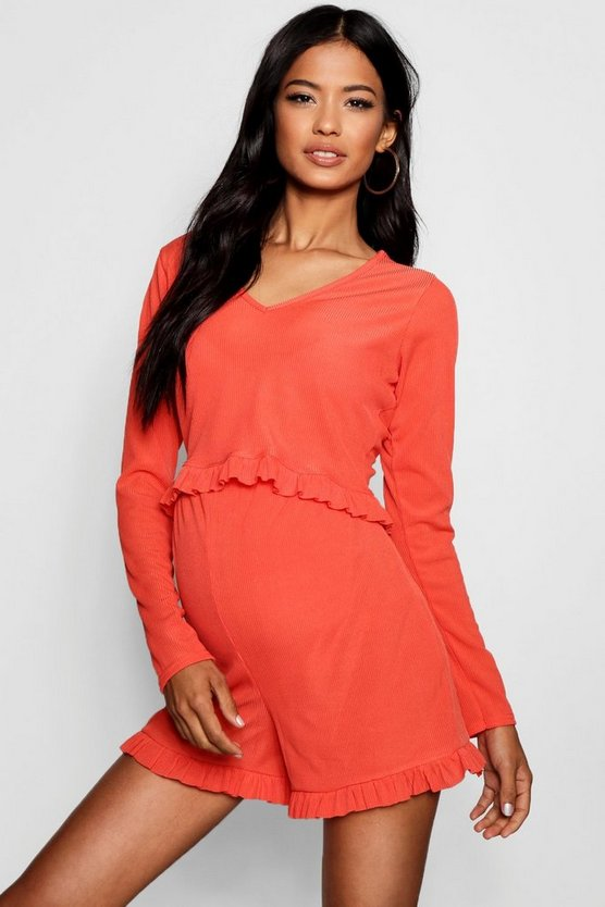 Maternity Eve Ruffle Hem Short + Top Lounge Set