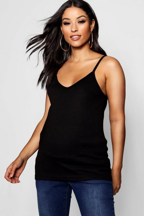 Maternity Rib Plunge Cami Top