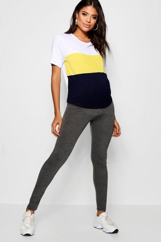 Maternity Basic High Waist Jersey Leggings