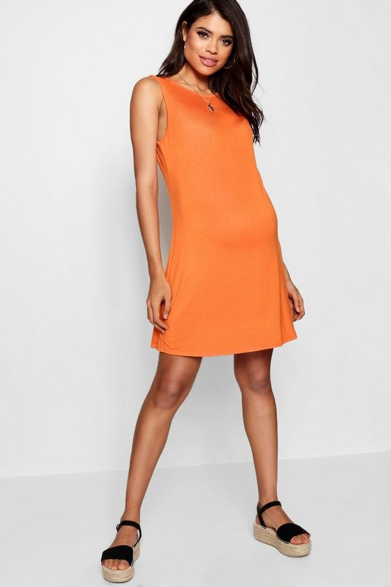 Maternity Crew Neck Swing Dress