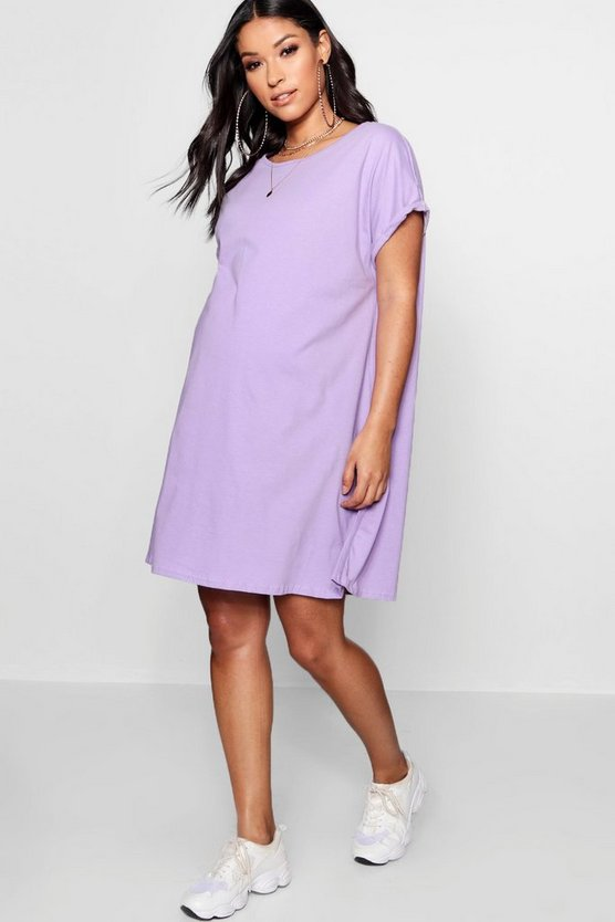 Maternity Oversized Roll Up T Shirt Dress