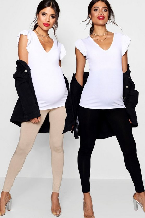 Maternity 2 Pack Over The Bump Legging