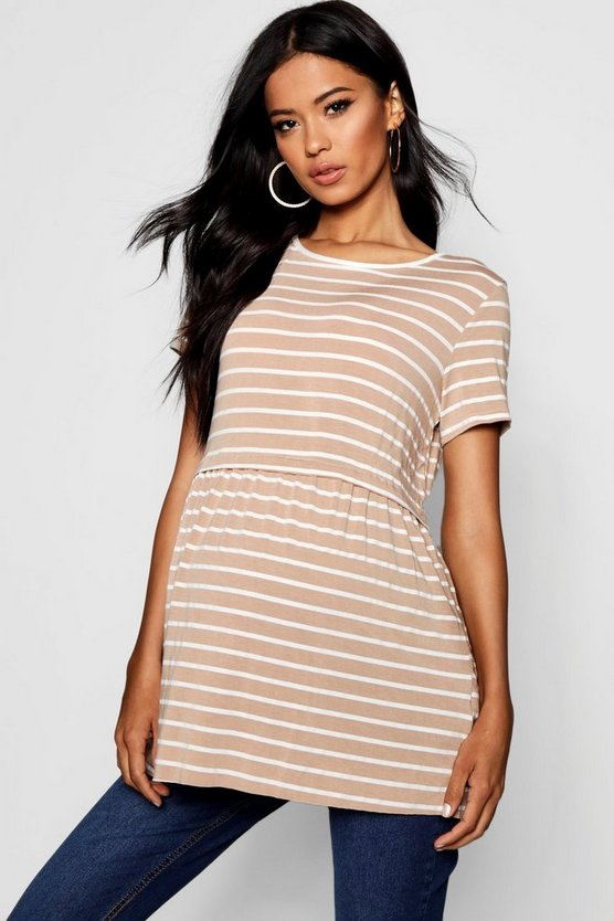 Maternity Amber Striped Smock Top