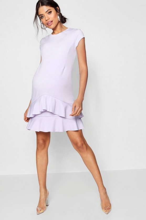 Maternity Carrie Ruffle Skater Dress