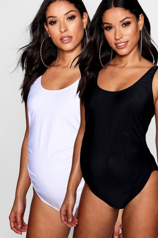 Maternity 2 Pack Scoop Back Swimsuit