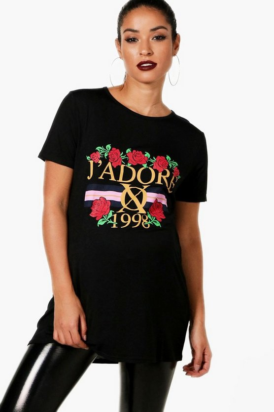 Maternity J'adore Floral Printed T-Shirt