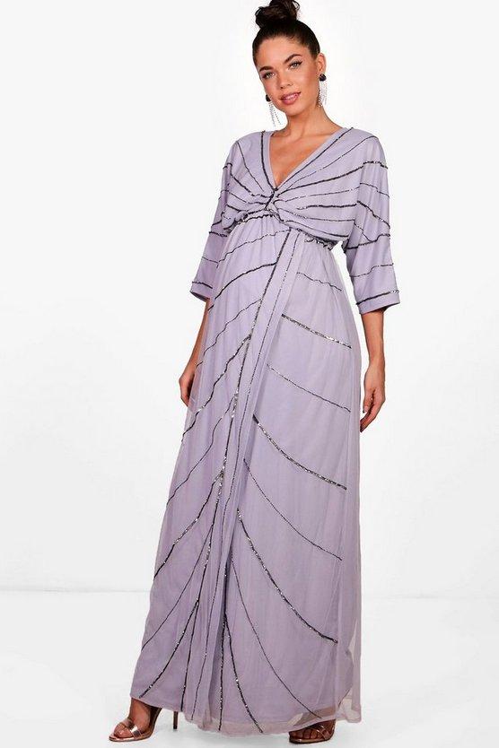 Shoulder Dress Petite The Jersey Off Ruffle Maxi gqqHWARn