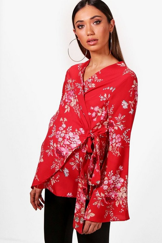 Maternity Alice Floral Wrap Blouse