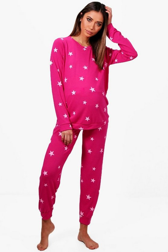 Maternity Star Printed Soft Loungewear Set