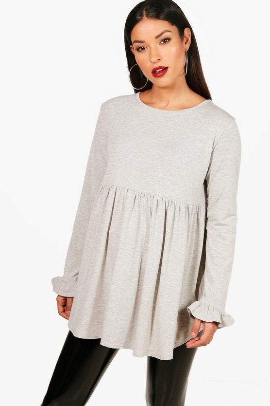 Maternity Dina Ruffle Long Sleeve Smock Top