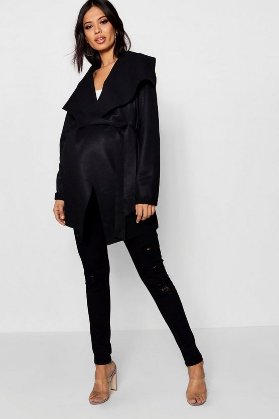 Maternity Ella Waterfall Wrap Jacket
