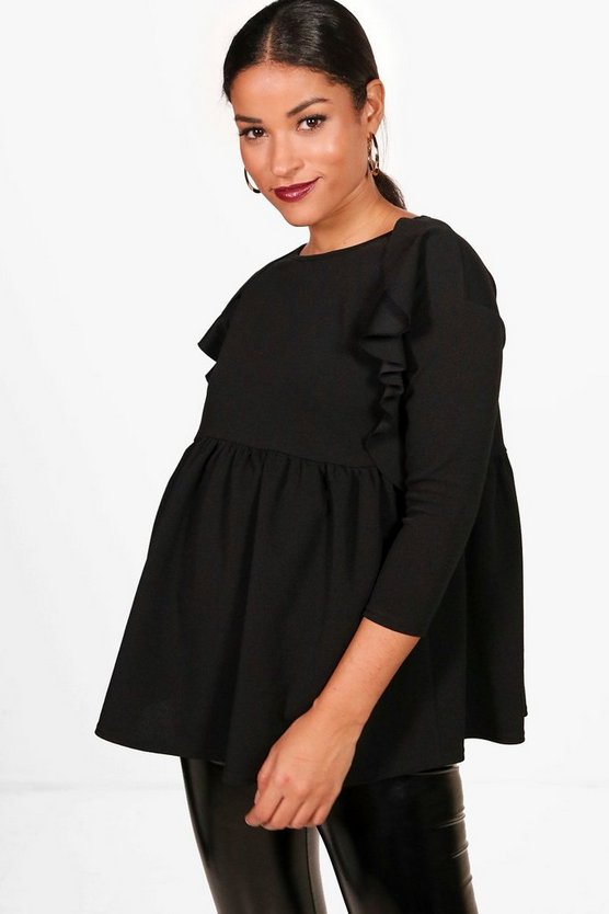 Maternity Marie Ruffle Detail Smock Top