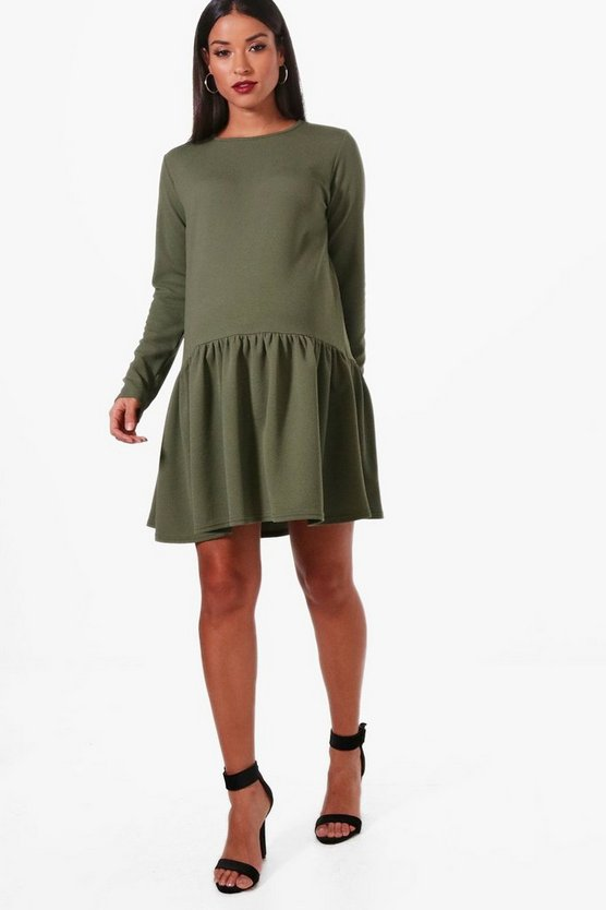 Maternity Crepe Smock Dress