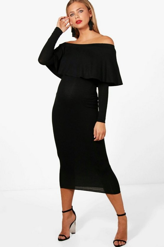 Maternity Melissa off The Shoulder Midi Dress