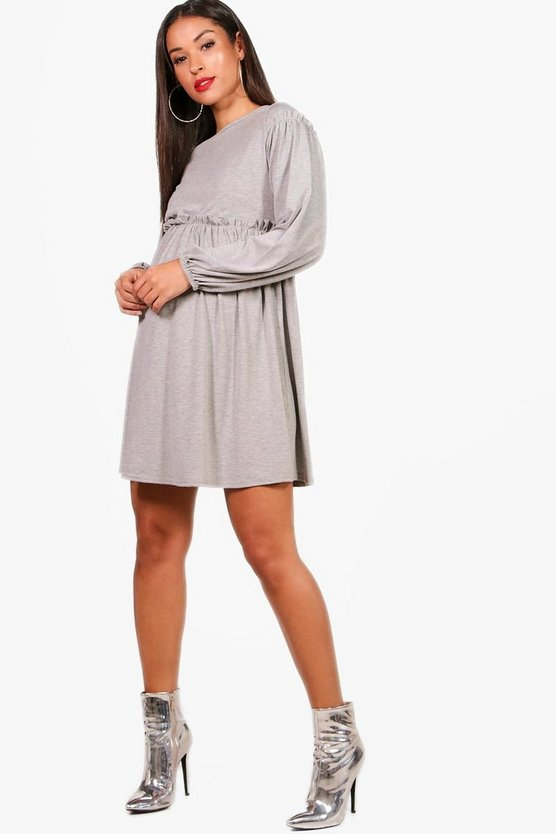 Maternity Laura Long Sleeve Smock Dress
