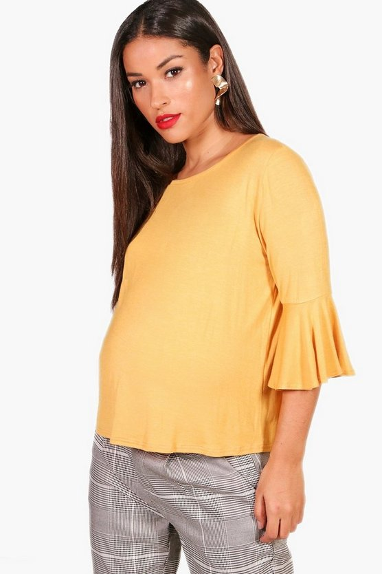 Maternity Tilly Ruffle Oversized Basic T-Shirt