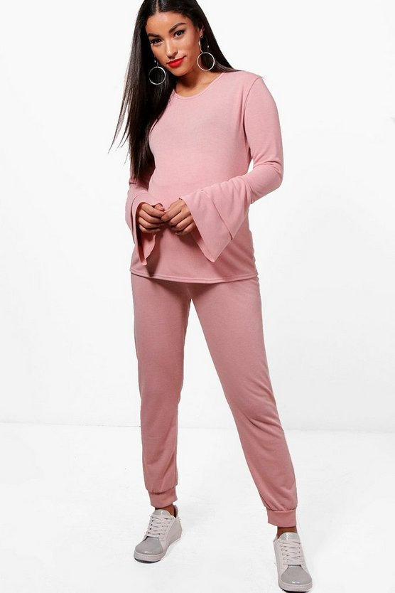 Maternity Mila Ruffle Sleeve Lounge Jogger Set