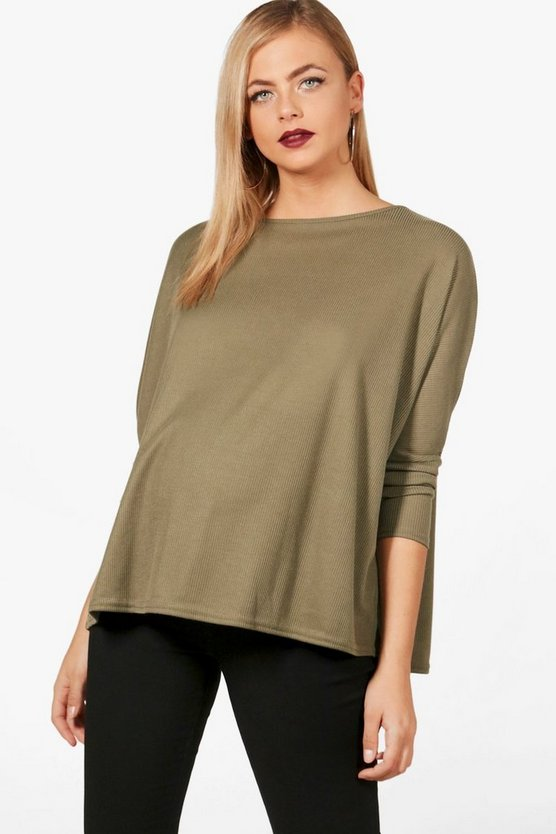Maternity Megan Oversized Rib Knit Jumper