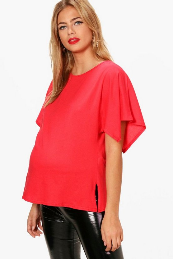 Maternity Alicia Oversized Side Split T-Shirt