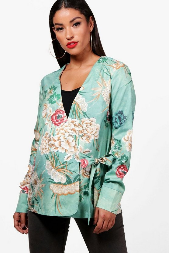 Maternity Kerry Oriental Wrap Blouse