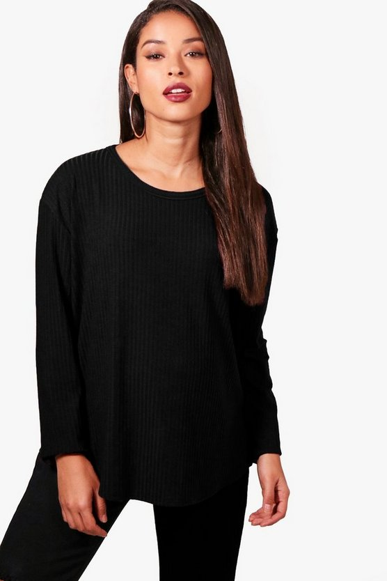 Maternity Sarah Side Split Ribbed Jumper