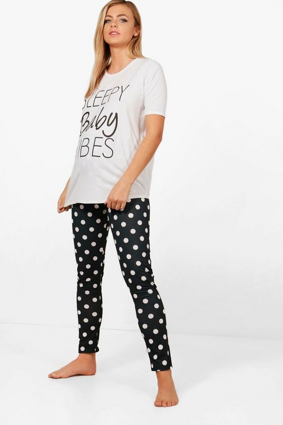 Maternity Ellie Sleepy Baby Vibes Pyjama Set