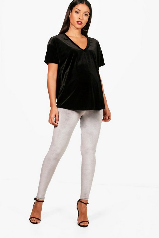 Maternity Danielle Velvet Over The Bump Legging