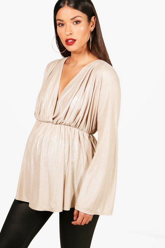 Maternity Emma Metallic Smock Top