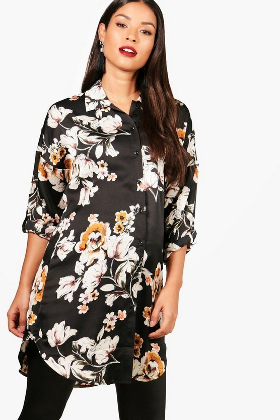 Maternity Lilly Oriental Printed Woven Shirt