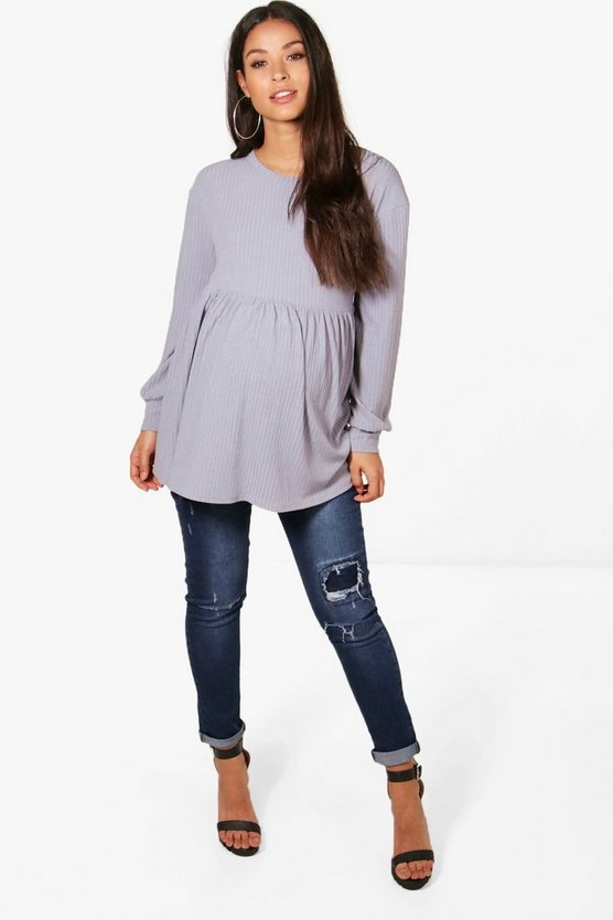 Maternity Honour Ribbed Smock Jumper