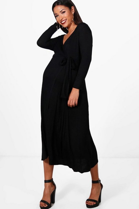 Maternity Rosie Half Sleeve Wrap Midi Dress