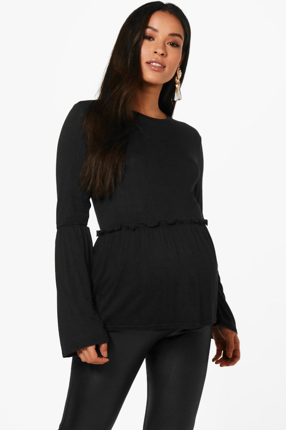 Image result for Maternity Abi Bell Sleeve Smock Top